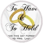 Marriage Vows Round Beach Towel
