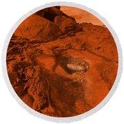 Mars Landscape Round Beach Towel