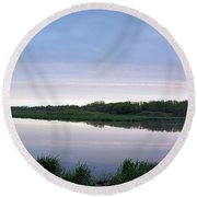 Marsh Calm Round Beach Towel