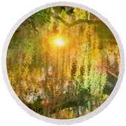 Willow Weep For Me Round Beach Towel