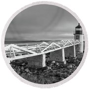 Marshall Point Lighthouse Round Beach Towel