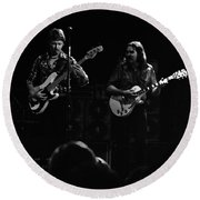 Marshall Tucker Winterland 1975 #36 Enhanced Bw Round Beach Towel