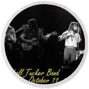 Marshall Tucker Winterland 1975 #37 Crop 2 With Text Round Beach Towel