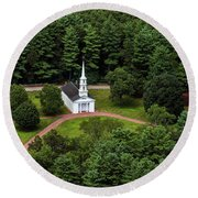 Martha Mary Chapel Round Beach Towel