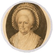 Martha Washington, American Patriot Round Beach Towel