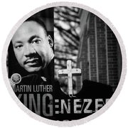 Martin Luther King Day Round Beach Towel