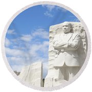 Martin Luther King Dc Memorial Round Beach Towel