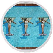 Martini Girls Round Beach Towel