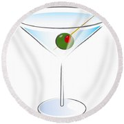 Martini Glass Round Beach Towel