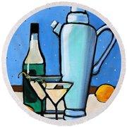 Martini Night Round Beach Towel