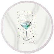 Martini Time  Round Beach Towel