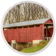 Martinsville Covered Bridge Round Beach Towel