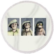 Marty Morph Round Beach Towel
