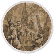 Martyrdom Of Saint Andrew Round Beach Towel