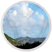 Marvellous Clouds Round Beach Towel