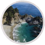 Marvelous Mcway Falls Round Beach Towel