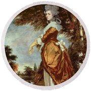Mary Amelia First Marchioness Of Salisbury Round Beach Towel