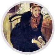 Mary Cassatt (1845-1926) Round Beach Towel