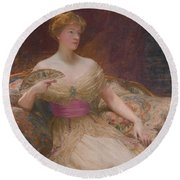 Mary Frances Mackenzie Round Beach Towel