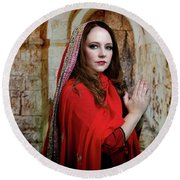 Mary Magdalene Round Beach Towel