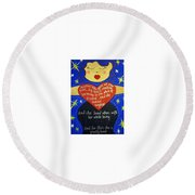 Mary, My Mother Round Beach Towel
