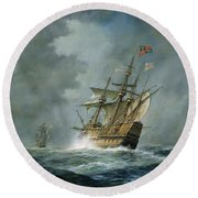 Mary Rose  Round Beach Towel