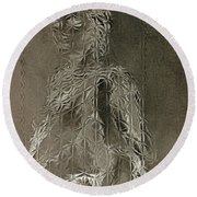 Mary Through The Looking Glass Round Beach Towel