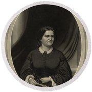 Mary Todd Lincoln, First Lady Round Beach Towel