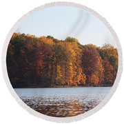 Maryland Autumns - Clopper Lake - Fall Bloom Round Beach Towel