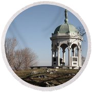 Maryland Monument At Antietam Round Beach Towel