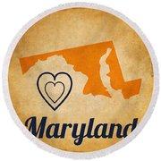 Maryland Vintage Round Beach Towel