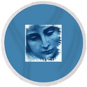 Marys Blues Round Beach Towel