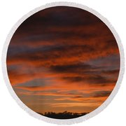 Masai Mara Sunset Round Beach Towel