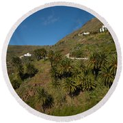 Masca Valley And Parque Rural De Teno 3 Round Beach Towel