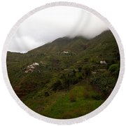 Masca Valley And Parque Rural De Teno 5 Round Beach Towel