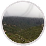 Masca Valley And Parque Rural De Teno 6 Round Beach Towel
