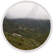 Masca Valley And Parque Rural De Teno 7 Round Beach Towel
