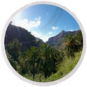 Masca Views Round Beach Towel