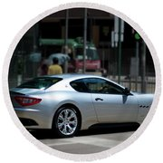 Maserati Granturismo S Round Beach Towel