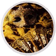 Mask Of Theatre Round Beach Towel