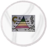 Maslow Cents Round Beach Towel