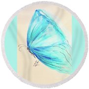 Masquerade Butterfly  Round Beach Towel