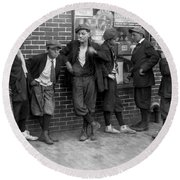 Massachusetts: Gang, C1916 Round Beach Towel