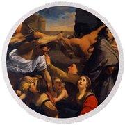 Massacre Of The Innocents 1611 Round Beach Towel