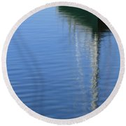 Mast Reflections Round Beach Towel
