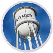 Matador Water Tower Round Beach Towel