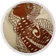 Matildas Smile - Tile Round Beach Towel