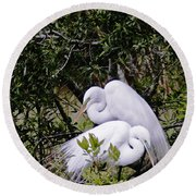 Mating Season Round Beach Towel