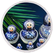 Matreshka Doll Round Beach Towel