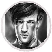 Matt Smith Round Beach Towel